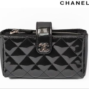 CHANEL Patent Quilted Mini Clutch